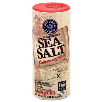Natural Nectar Natural Tides Mediterranean Natural Sea Salt, 17.6 oz, (Pack of 12)