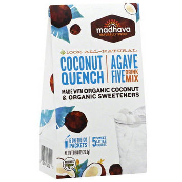 Madhava Honey Madhava AgaveFIVE Coconut Quench Drink Mix, 6 count, .94 oz (Pack of 6)