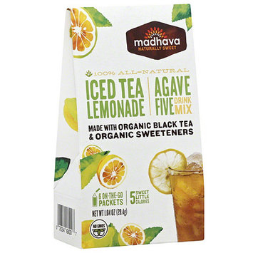Madhava Honey Madhava AgaveFIVE Iced Tea Lemonade Drink Mix, 1.04 oz, (Pack of 6)