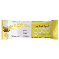 Good Greens Good Green Banana Nut Soy Greek Yogurt Wellness Bar, 1.76 oz, (Pack of 12)