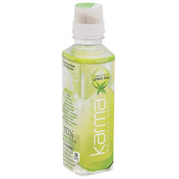 Karma Wellness Water Karma Passionfruit Green Tea Wellness Water, 18 fl oz, (Pack of 12)