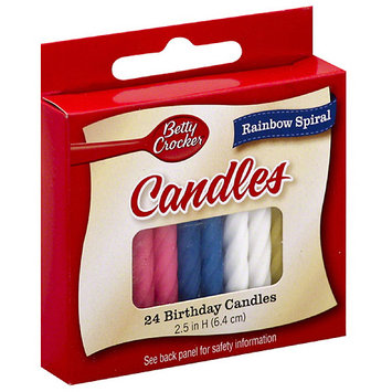 Betty Crocker™ Medium Rainbow Spiral Birthday Candles
