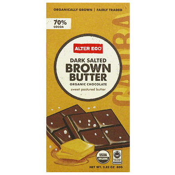 Alter Eco Dark Salted Brown Butter Organic Chocolate Bar, 2.82 oz, (Pack of 12)