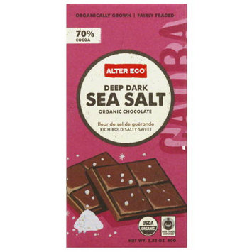 Alter Eco Deep Dark Sea Salt Organic Chocolate Bar, 2.82 oz, (Pack of 12)