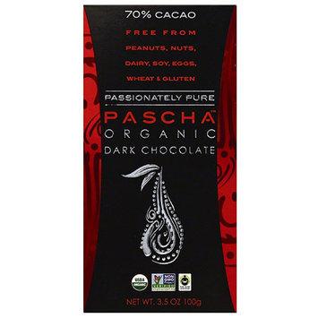 Pascha 70% Cacao Organic Dark Chocolate, 3.5 oz (Pack of 10)