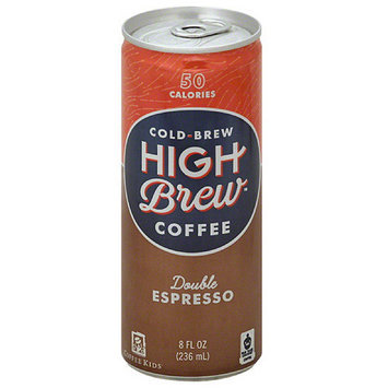High Brew Cold Brew Double Espresso Coffee, 8 fl oz, (Pack of 12)