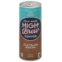 High Brew Cold Brew Dark Chocolate Mocha Coffee, 8 fl oz, (Pack of 12)