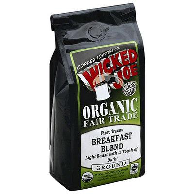 Wicked Joe Coffee Wicked Joe Organic Fair Trade First Tracks Breakfast Blend Ground Coffee, 12 oz (Pack of 6)