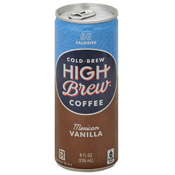 High Brew Cold Brew Mexican Vanilla Coffee, 8 fl oz, (Pack of 12)