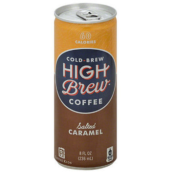 High Brew Cold Brew Salted Caramel Coffee, 8 fl oz, (Pack of 12)