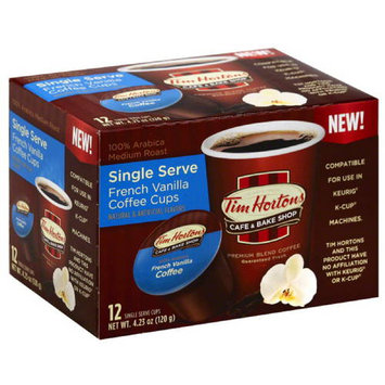 Tim Hortons Cafe & Bake Shop French Vanilla Single Serve Coffee Cups, 4.23 oz, (Pack of 6)