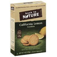 Back to Nature California Lemon Cookies, 9 oz, (Pack of 12)