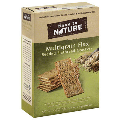 Back to Nature Multigrain Flax Seeded Flatbread Crackers, 5.5 oz, (Pack of 6)