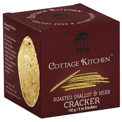 Cottage Kitchen Roasted Shallot & Herb Crackers, 5 oz, (Pack of 12)