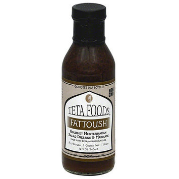 Teta Foods Fattoush Gourmet Mediterranean Salad Dressing & Marinade, 12 fl oz, (Pack of 12)