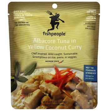 Fishpeople Albacore Tuna in Yellow Coconut Curry, 7 oz, (Pack of 12)