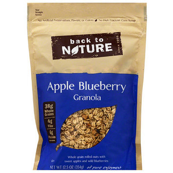 Back to Nature Apple Blueberry Granola, 12.5 oz, (Pack of 6)