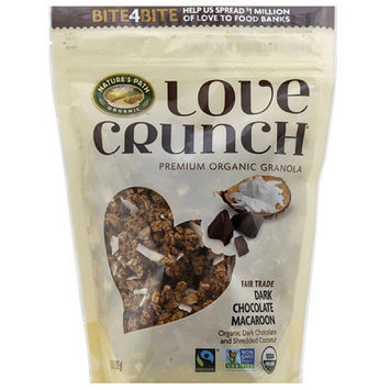 Nature's Path Organic Love Crunch Dark Chocolate Macaroon Premium Organic Granola, 11.5 oz, (Pack of 6)