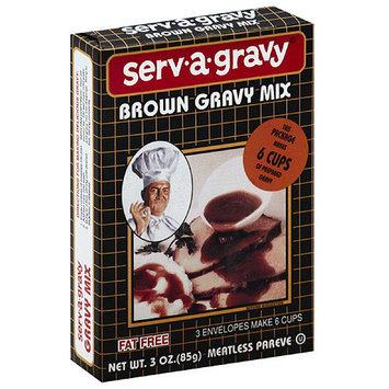 Serva Gravy Serv-a-gravy Brown Gravy Mix, 3 oz, (Pack of 12)