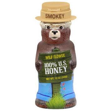 Smokey The Bear Miller's American Wild Flower 100% U.S. Honey, 12 oz, (Pack of 12)