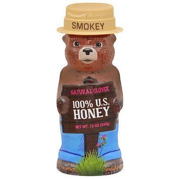 Smokey The Bear Miller's Natural Clover 100% U.S. Honey, 12 oz, (Pack of 12)