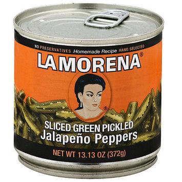 La Morena Sliced Green Pickled Jalapeno Peppers, 13.13 oz, (Pack of 12)