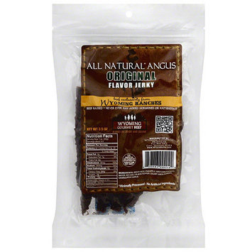 Wyoming Beef Wyoming Ranches All Natural Angus Original Flavor Beef Jerky, 3.5 oz, (Pack of 12)