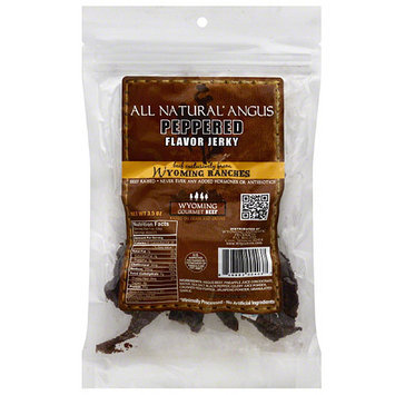 Wyoming Beef Wyoming Ranches All Natural Angus Peppered Beef Jerky, 3.5 oz, (Pack of 12)