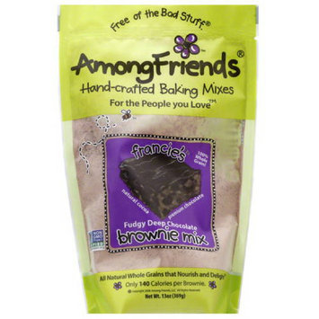 Among Friends Francie's Fudgy Deep Chocolate Brownie Mix, 13 oz, (Pack of 6)