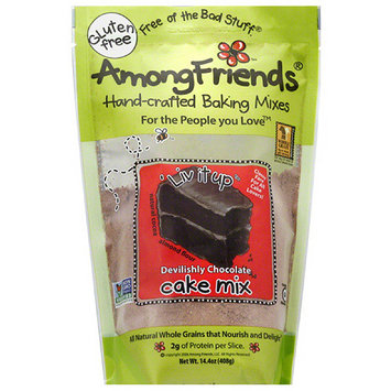 Among Friends Gluten Free 'Liv It Up Devilishly Chocolate Cake Mix, 14.4 oz, (Pack of 6)
