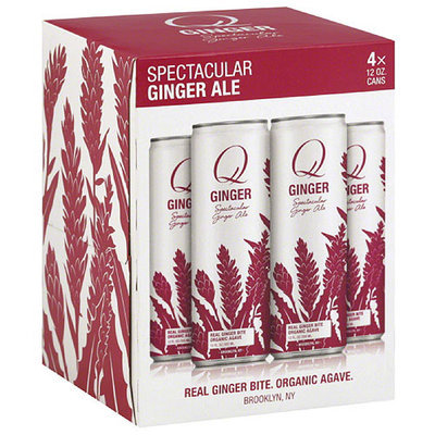 Q Tonic Q Ginger Spectacular Ginger Ale, 12 fl oz, 4 count, (Pack of 6)