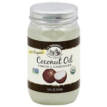 La Tourangelle Virgin & Unrefined Coconut Oil, 14 fl oz, (Pack of 6)