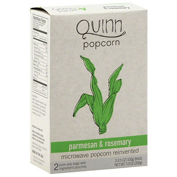 Quinn Parmesan & Rosemary Popcorn, 3.5 oz, 2 count (Pack of 6)