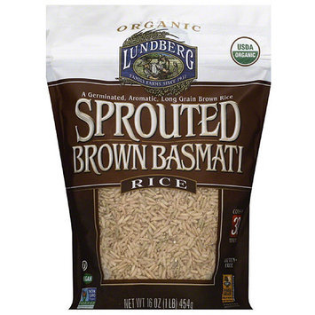Lundberg Family Farms Sprouted Brown Basmati Rice, 16 oz, (Pack of 6)