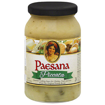 Paesana Piccata Cooking Sauce, 15.75 oz, (Pack of 6)