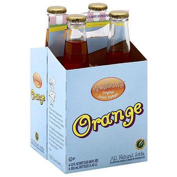 Harrisons Sweet Shoppe Harrison's Original Sweet Shoppe Orange All Natural Soda, 12 fl oz, 4 count, (Pack of 6)