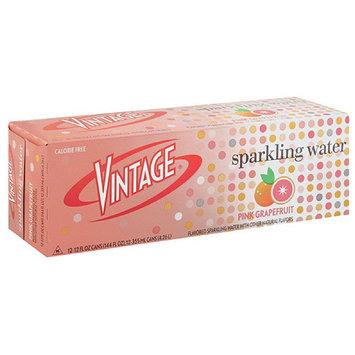 Vintage Pink Grapefruit Sparkling Water, 12 count, 12 fl oz, (Pack of 2)