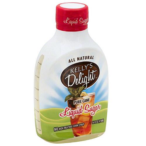 Kelly Delight Kelly's Delight Pure Cane Liquid Sugar, 16 fl oz, (Pack of 6)