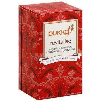 Pukka Herbs Pukka Revitalise Herbal Tea Sachets, 20 count, 1.41 oz, (Pack of 6)