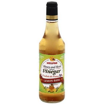 Melfor Lemon Basil Honey and Herb Infused Vinegar, 16.9 fl oz, (Pack of 6)