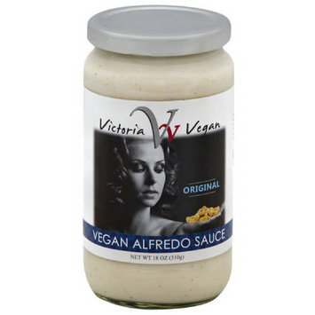 Victoria Vegan Original Vegan Alfredo Sauce, 18 oz, (Pack of 6)