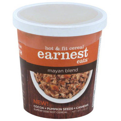 Earnest Eats Mayan Blend Hot & Fit Cereal, 2.35 oz, (Pack of 12)