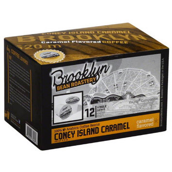 Brooklyn Bean Roastery Coney Island Caramel Single Serve Coffee Cups, 5.5 oz, 12 count, (Pack of 6)