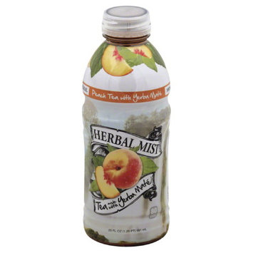 Herbal Mist Peach Tea Made with Yerba Mate, 20 fl oz, (Pack of 12)