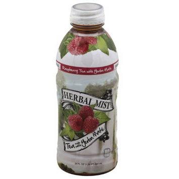 Herbal Mist Raspberry Tea Made with Yerba Mate, 20 fl oz, (Pack of 12)