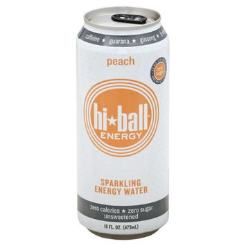 Hi Ball Energy Hi*Ball Peach Sparkling Energy Water, 16 fl oz, (Pack of 12)