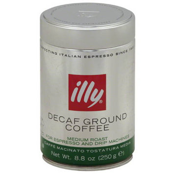 Illycaffe illy Medium Roast Decaf Ground Coffee, 8.8 oz, (Pack of 6)