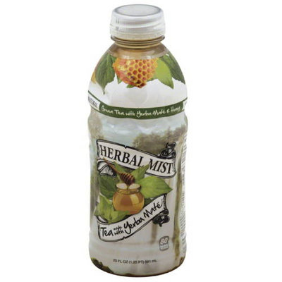 Herbal Mist Green Tea with Yerba Mate & Honey, 20 fl oz, (Pack of 20)
