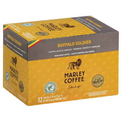 Marley Coffee Buffalo Soldier Dark Roast Coffee, 4.66 oz, (Pack of 6)