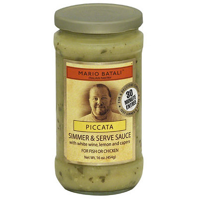 Mario Batali Piccata Simmer & Serve Sauce, 16 oz, (Pack of 6)